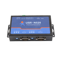 Q18040 USRIOT USR N520 Serial To Ethernet Server TCP IP Converter Double Serial Device RS232 RS485