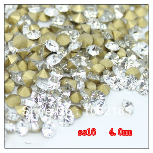 Promotion: SS16(3.8-4.0mm) Crystal Color,10gross/lot Pointed Back Chaton Rhinestone for Jewelry Accessory! Free Shipping ss16 3 8 4 0mm aquamarine color 10gross lot pointed back chaton rhinestone for jewelry accessory free shipping
