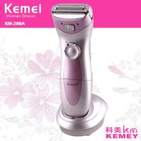 Kemei Electric Female Epilator Hair Removal 110 240V Women Underarms Legs Bikini Line Depilation Rechargeable Epilator