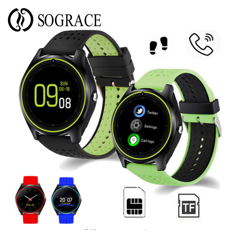 V10 Smart Watch Support SIM/TF Card 2G Camera Smartwatch Fitness Tracker Sport Watches For IOS iphone Andorid Huawei PK V9 DZ09