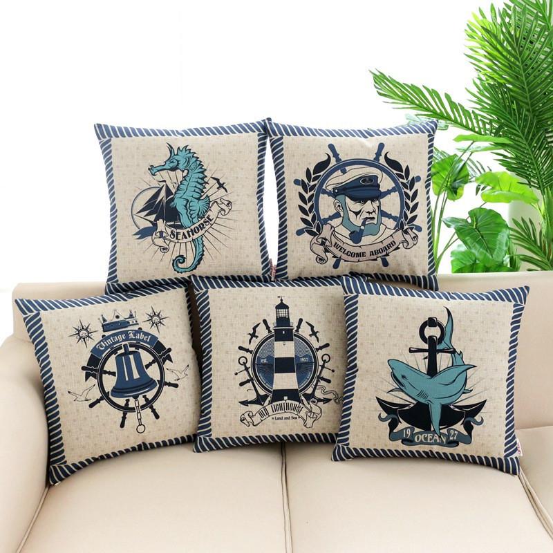 Cartoon Style set of Nautical Cushions