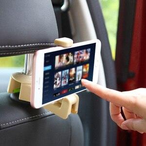 Image 3 - 1PC 2PC רכב משענת ראש וו עם טלפון מחזיק מושב אחורי קולב תיק ארנק מכולת בד נייד 2in1 קליפים תכליתי ווים