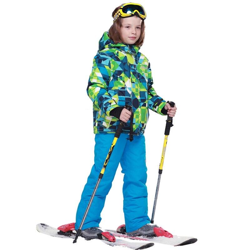 Invierno Impermeable A Prueba de Viento de Esquí Establece Muchachos Niños Traje