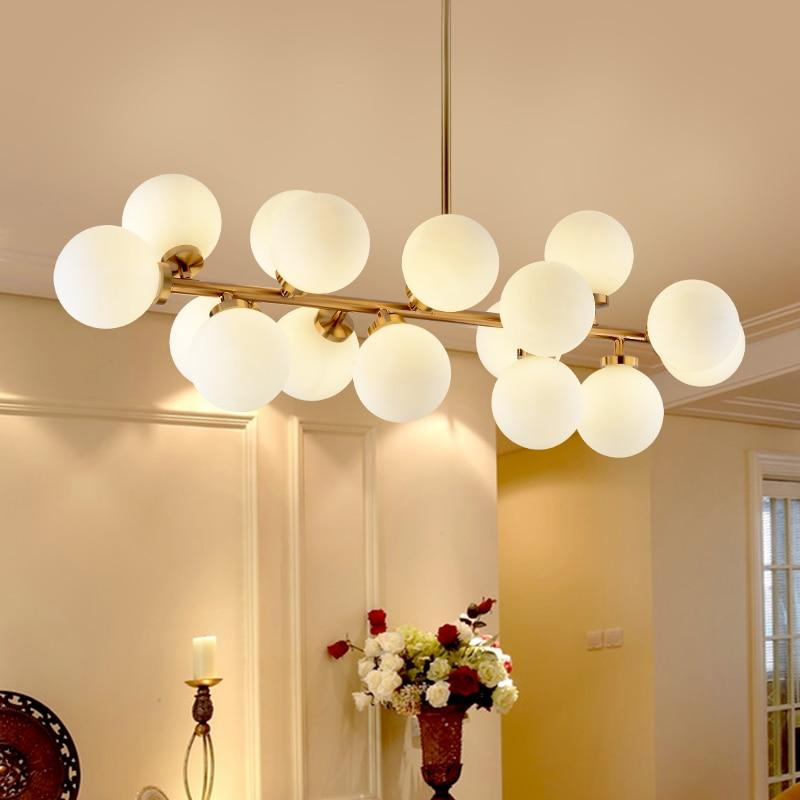 Modern Gold Black pendants lights Hanging glass G4 led pendant lamp for living dining room 85
