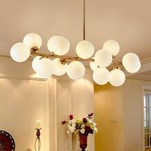 Современный золото/Черные Подвески огни висит стекло G4 led подвесной светильник для гостиной столовой 85-265 В Nordic подвеска лампа Светильник