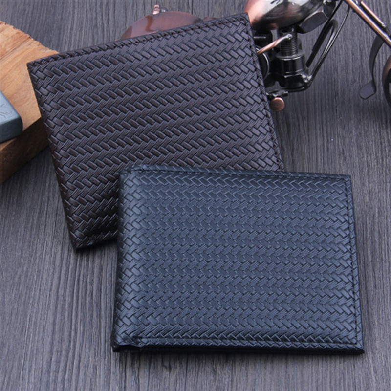 Wallet Purse-Pockets Short Credit-Card-Holder Bifold Business ID Classic Solid Men Casual