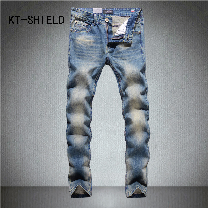 ripped Distressed biker Jeans pants men brand big size solid skinny Casual full length man Denim trousers Slim hombre vaqueros biker jeans mens brand black skinny ripped zipper full length pants hip hop cotton denim distressed pantalones vaqueros hombre