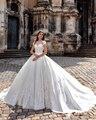 2016 Luxury Bodice Princess Ball Gown Wedding Dresses Lace Weddingdress Bridal Bride Wedding Gowns vestido de noiva de renda
