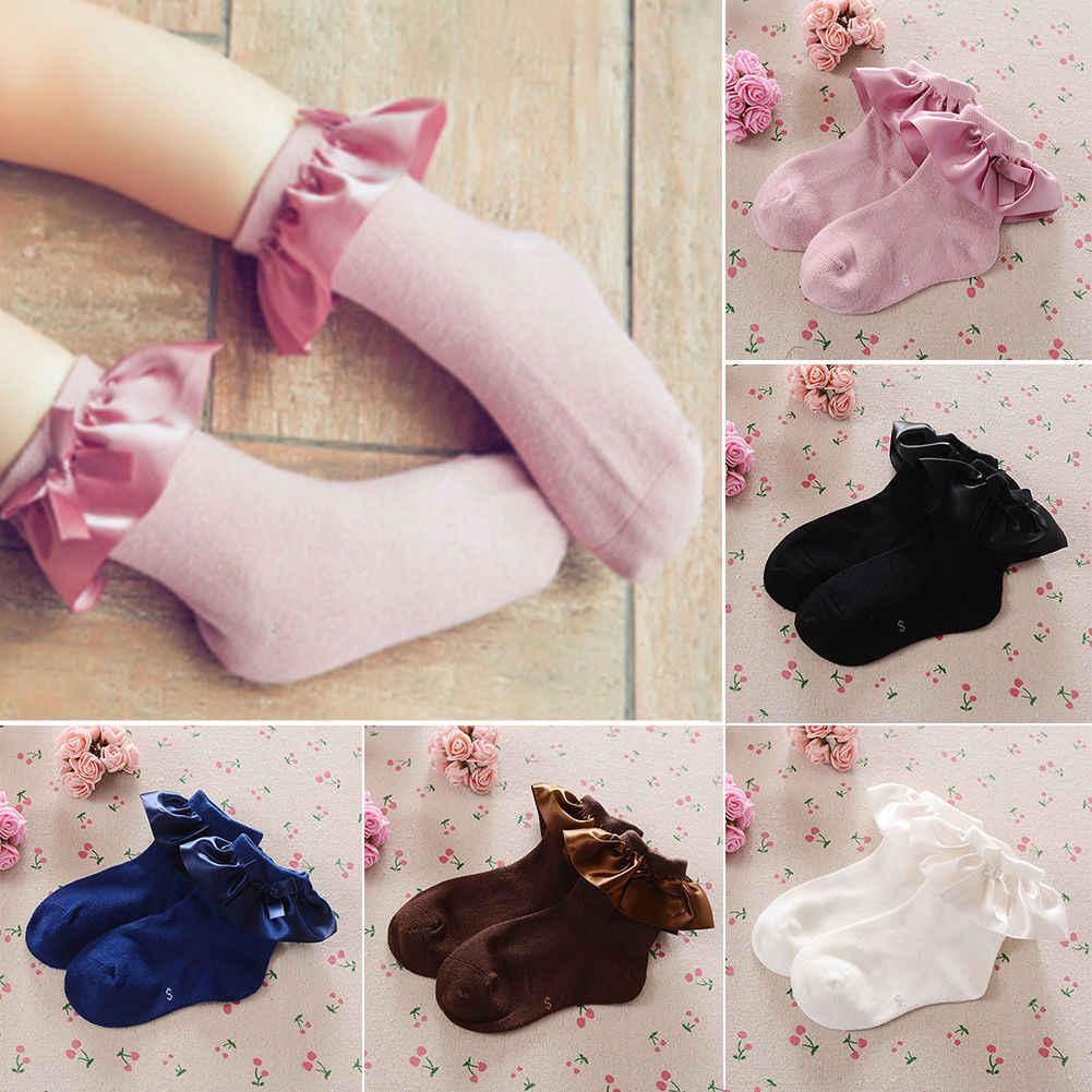 Носки для новорожденных младенцев, кружевное платье принцессы, носки с начесом для девочек, для младенцев, носки