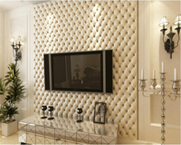 Beibehang European Style Imitation Leather Wallpapers 3D Soft Bag Wallpaper Bedside Living Room TV Wall 3d