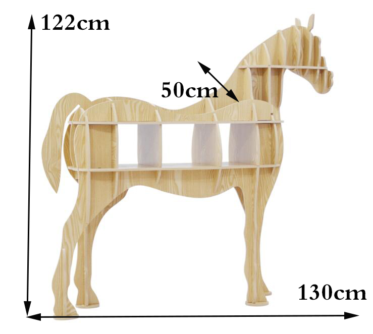 Wood Craft Horse Desk Horse Coffee Table Wooden Home Furniture Europe Style  Wooden Home Decoration Accessories The Horse Statue