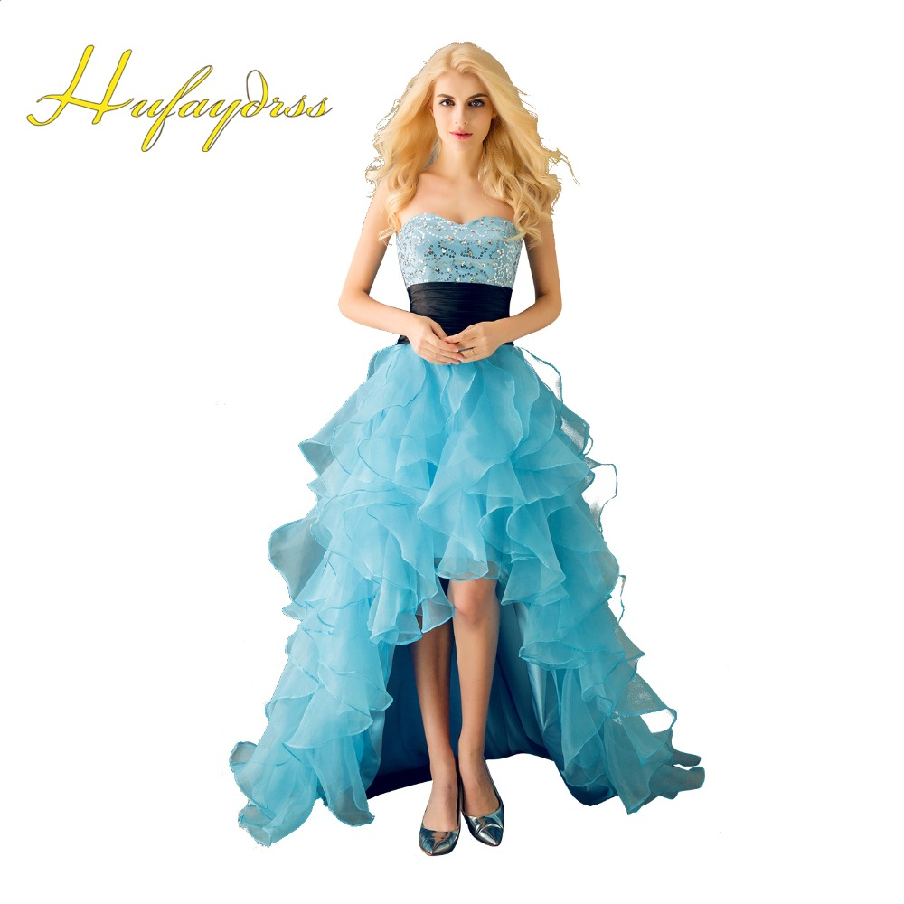 Blue High Low Prom Dress – fashion dresses