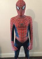 Halloween Kids/ mens Spider Man Costume Peter Parker Hero Bodysuit Sam Raimi Comic Con Boy Spider Man Jumpsuit Party Fancy Dress