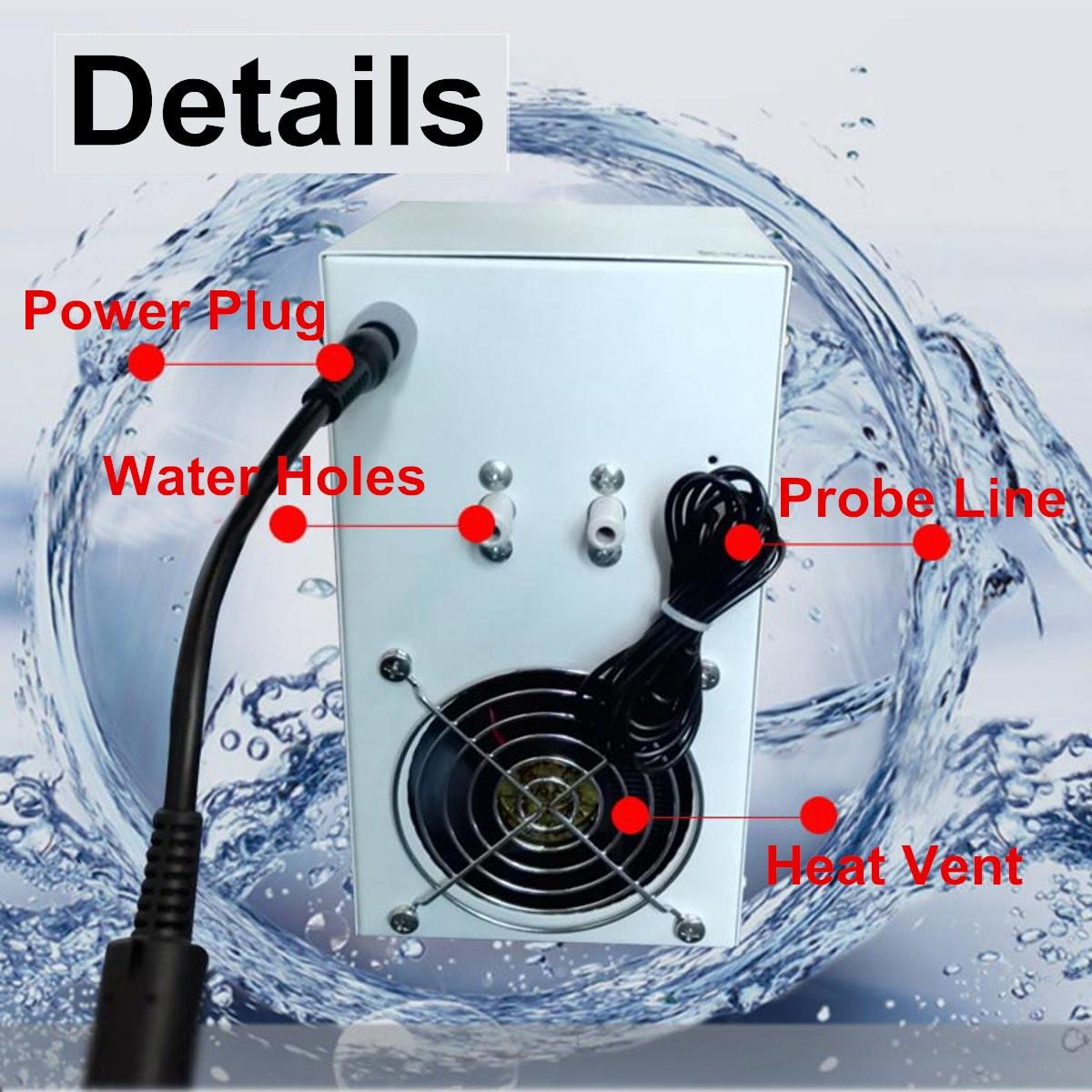 Dispositif de refroidissement de refroidisseur d'eau d'affichage à cristaux liquides 35L 72 W Aquarium réservoir de poissons équipement de refroidissement Constant outils de contrôle de température-in Articles de contrôle de la température from Maison & Animalerie    2