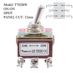 Image 4 - TOOWEI SPST DPDT DPST SPDT Toggle Switch ON ON ON OFF ON ON OFF AC Power Rocker Switch AC 250V 15A 125V 20A
