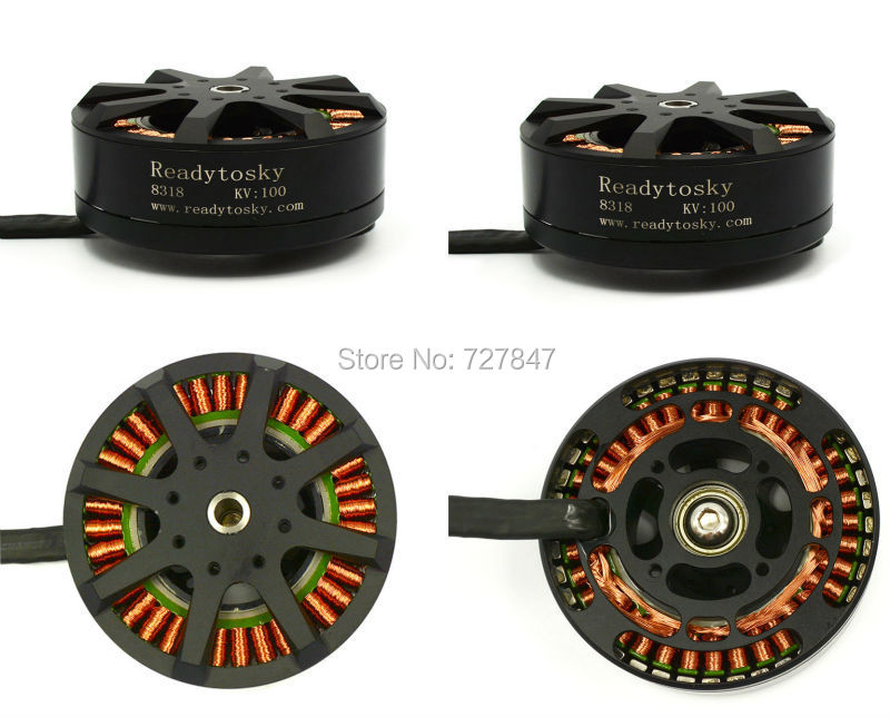 4 pcs / lot 8318 <font><b>100KV</b></font> Brushless Plant Protection <font><b>Motor</b></font> For 3080 props multicopter <font><b>Drone</b></font> UAV image