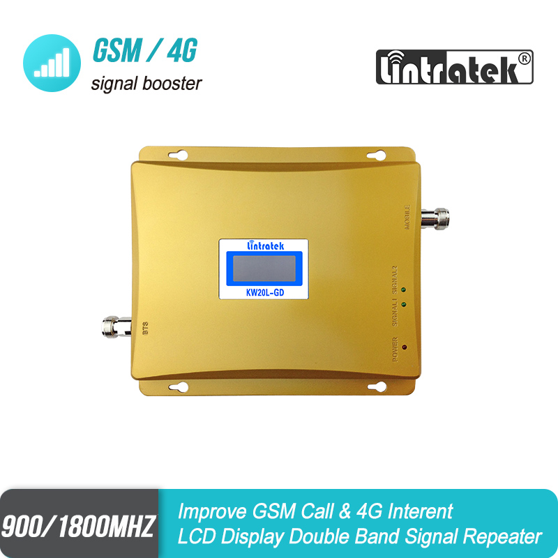 LCD Dual Repeater Repetidor 1800mhz  GSM DCS Cell Phone Booster GSM 900 1800 Signal Repeater S65