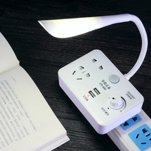 Reading Desk Lamp Socket Lamp Home Plug Converter with USB Plug Bedroom Bedside Baby Feeding Night Light(China)