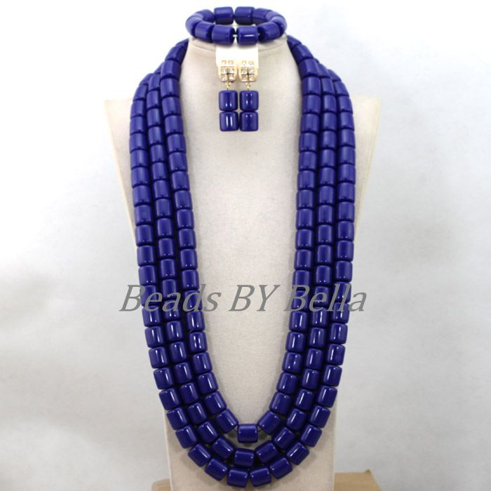 Big Chunky Nigerian Wedding Beads Blue Artificial Coral Bridal Jewelry Set Necklace African Jewelry Sets Free Shipping ABK263Big Chunky Nigerian Wedding Beads Blue Artificial Coral Bridal Jewelry Set Necklace African Jewelry Sets Free Shipping ABK263