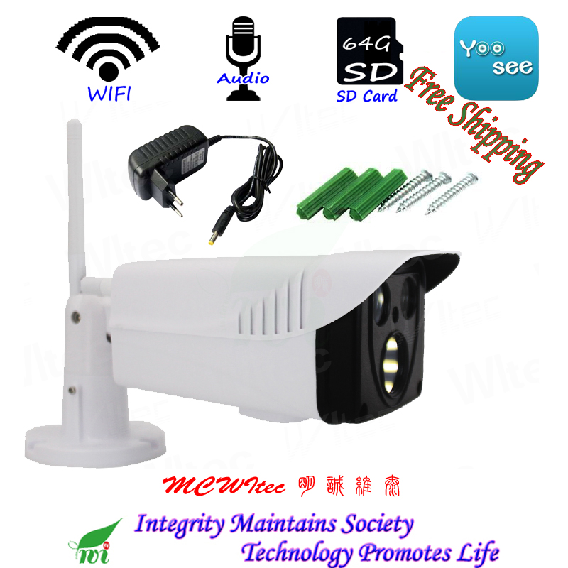 где купить Reset WIFI IPC HD 1080P 960P 720P Security Camera with Bracket ONVIF P2P IP Cam Night image IR CCTV SD Card RTSP Outdoor Alarm дешево