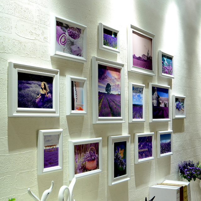 Modern White Stylish 15pcs/set Photo Frames Set Quality Home Hanging Photo Frame Wall Best Decor Picture Frames porta retrato