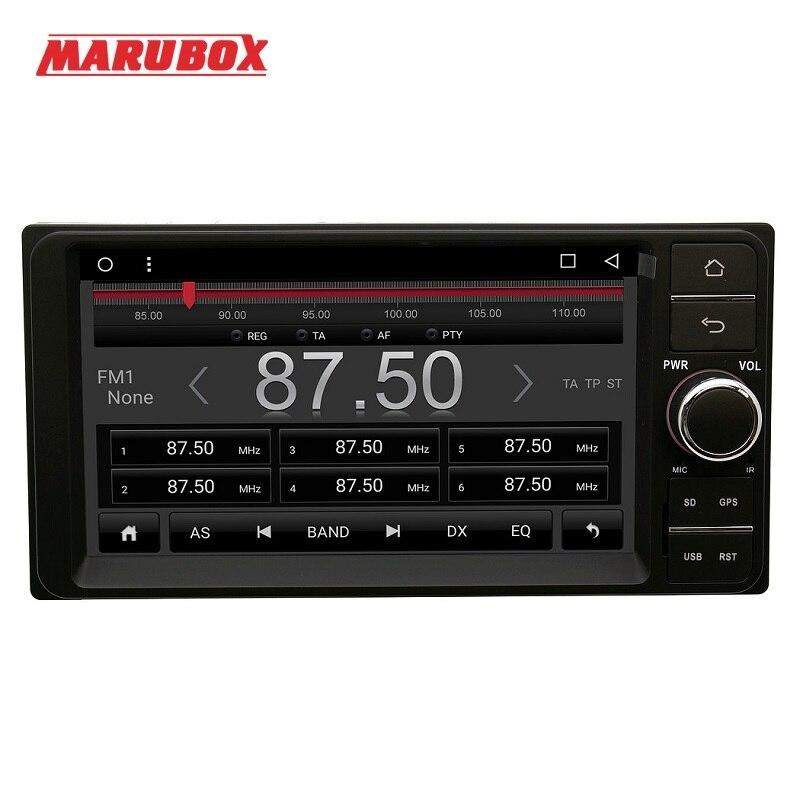 Lecteur multimédia de voiture MARUBOX 701DT3 pour Toyota Universal 2DIN, Quad Core, Android 7.1, 2 GB RAM, 32 GB, GPS, Radio, Bluetooth, pas de DVD - 2