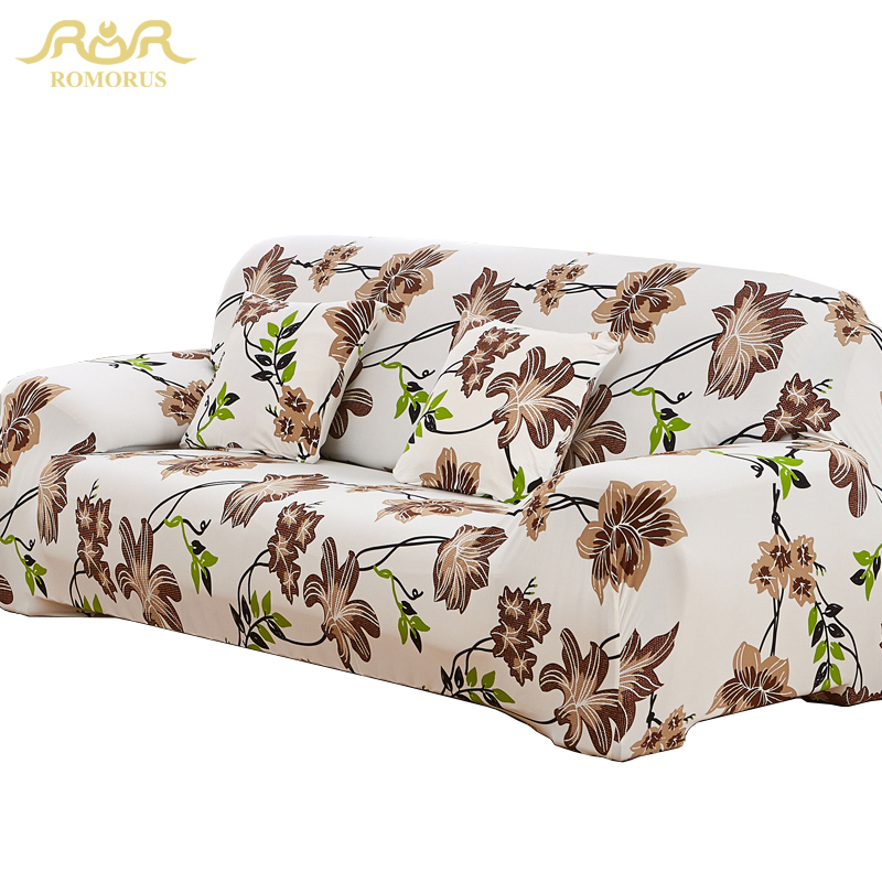 ROMORUS Floral Sofa Covers Tight All-inclusive Universal Stretch - Home Textile - Photo 1