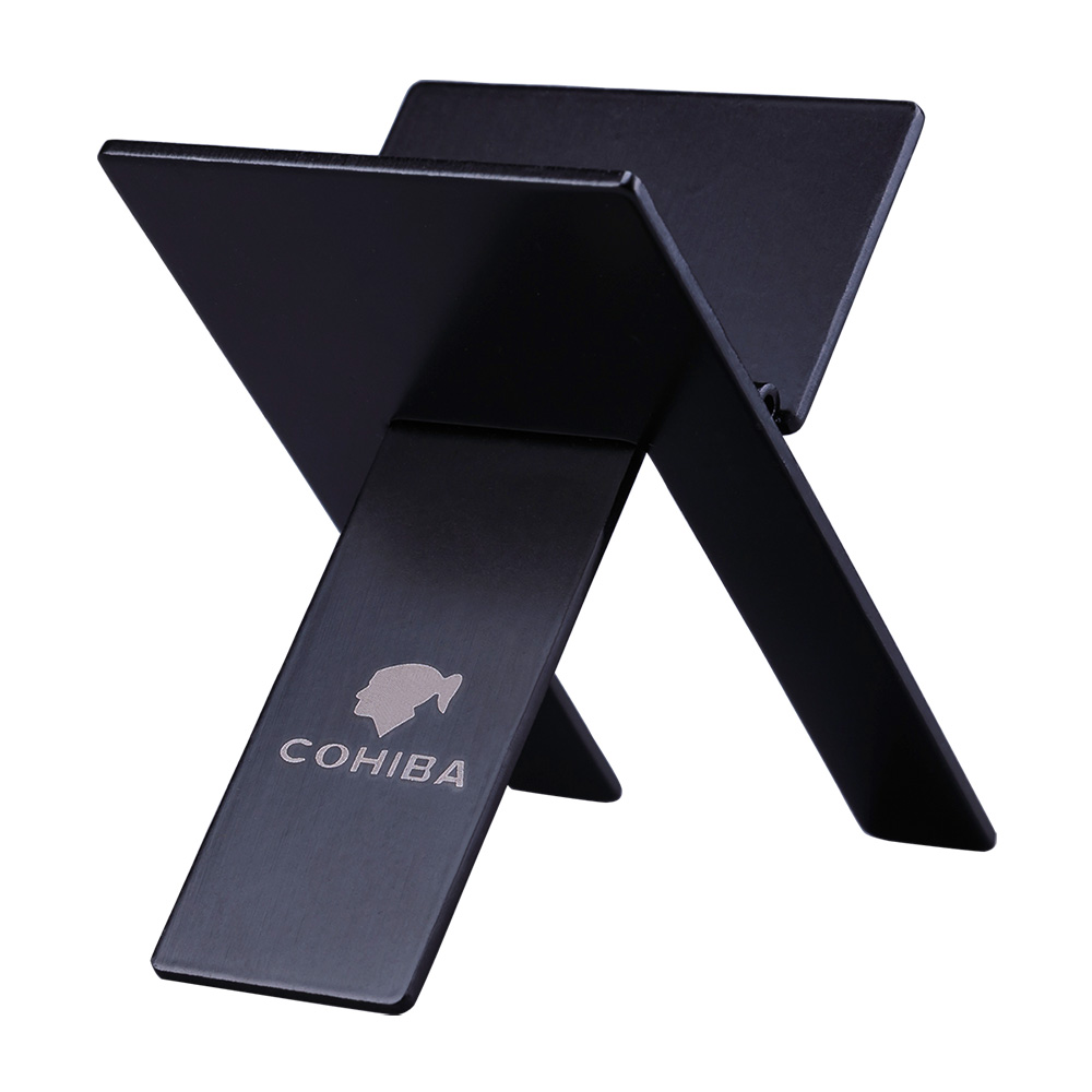 Cohiba Stainless Steel Cigar Ashtray Holder High Quality Rack Practical Gadgets Silver Foldable Cigar Stand Tray CE-1206
