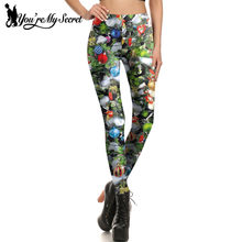 7be954e6a55ad [You're My Secret]2017 Christmas Eve Gift Tree And Bells Leggings 3d Print  Women Leggins Skinny Xmas Decoration leggings