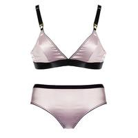 New Deep V Silken Seamless Bra & Panty Set Wireless Comfort Underwear Women Sexy Lingerie Ultrathin Triangle Cup Lounge Bralette