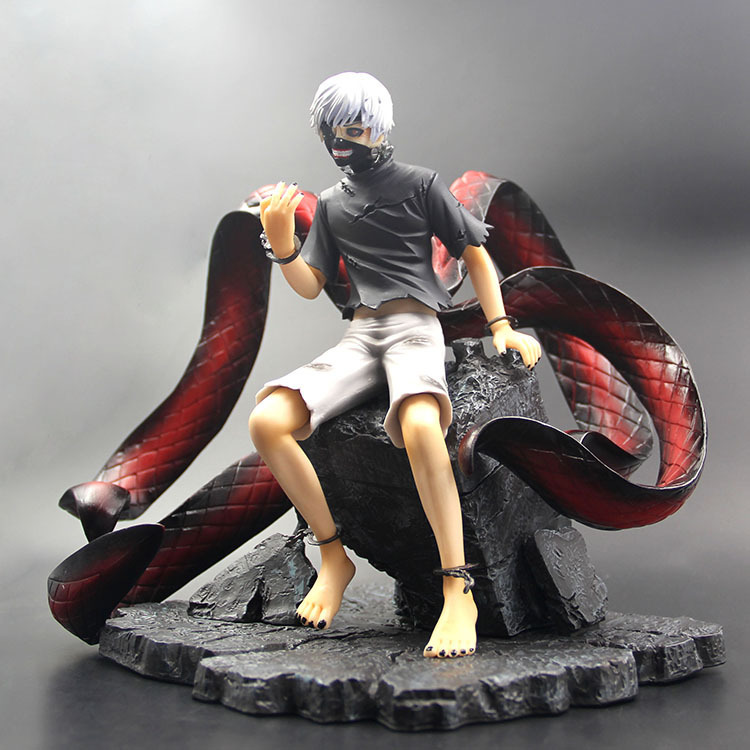 Anime TOKYO GHOUL KEN KANEKI Head Changeable Collection PVC Statue Model Action Figure Toys anime tokyo ghoul kaneki ken cosplay mask with light pvc figure toy collectible 27 5cm anms021