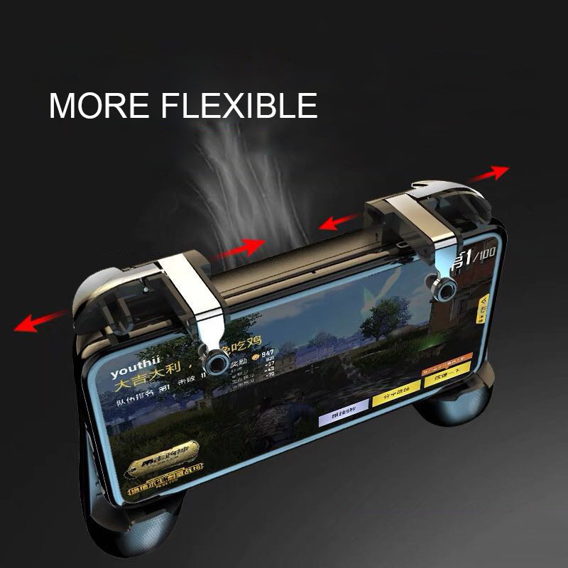 Image 2 - PUBG joystick controller power bank with fan pubg mobile phone gamepad trigger fire button for iphone android game controller-in Replacement Parts & Accessories from Consumer Electronics