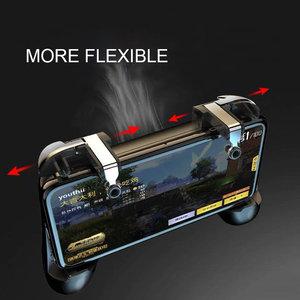 Image 2 - PUBG kontroler typu joystick banku mocy z wentylatorem pubg mobile telefon gamepad wyzwalacz przycisk ognia dla iphone z systemem android kontroler do gier