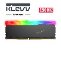 Klevv CRAS-X 32 GB 16G памяти ПК Оперативная память модуль настольный компьютер DDR4 XMP 2,0 PC4 3200 МГц 3200 Оперативная память 8GBX2 = 16 GB RGB Оперативная память 1,...