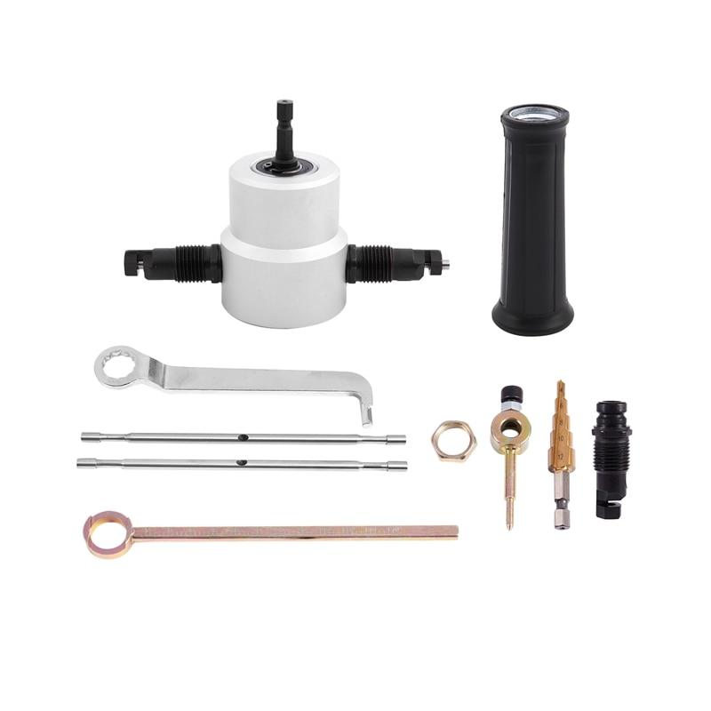 Replace Arbor Metal Dual Head Sheet Drill Nibbler Saw Cutter Tool 125mm