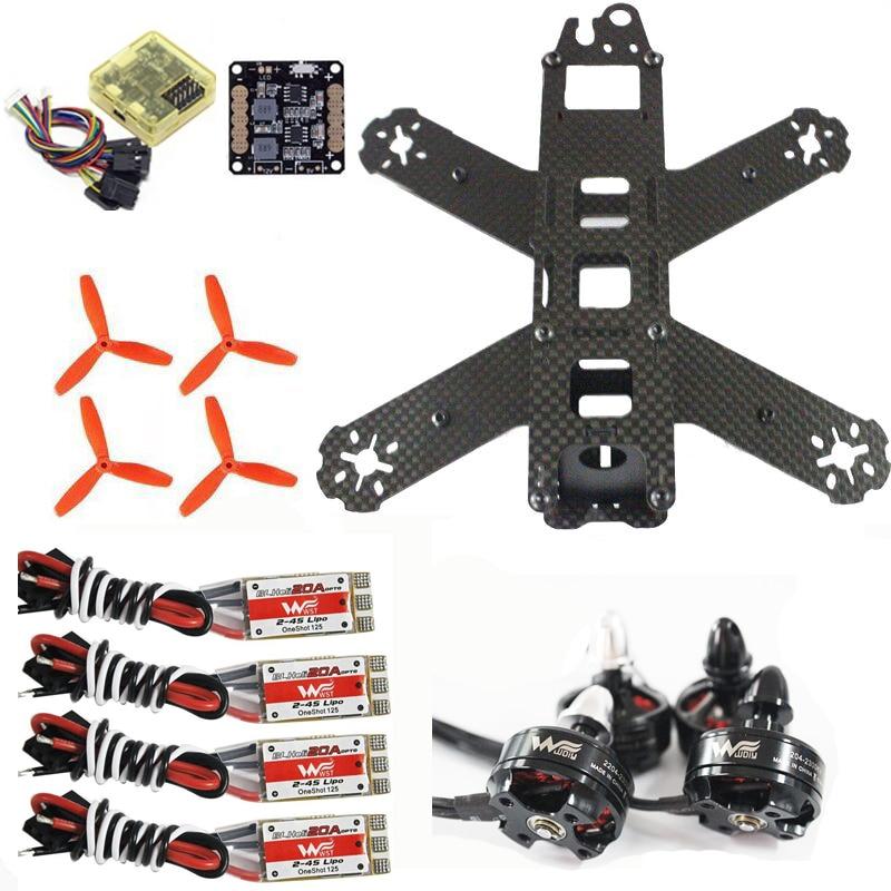 QAV210 quadcopter frame kit CC3D Flight Control Wdiy 2204 2300kv motor WST 20A ESC for cross racing drone FPV ultra light 110g few 250 carbon fiber fpv quadcopter frame for 2204 motor 12 esc cc3d flight controller