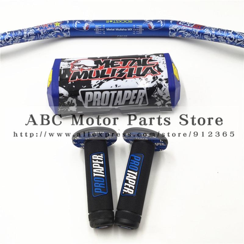 PRO Taper Handtag Handtag Metall Mulisha Pack Fat Bar 1-1 / 8 - Motorcykel tillbehör och delar - Foto 2
