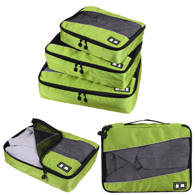 New Breathable Travel Bag 3 Set Packing Cubes Luggage Packing Organizers with Shoe Bag M ...
