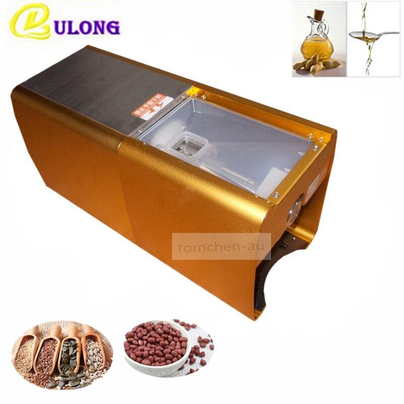 Household small mini oil press machine,automatic oil press tool Oil seed, peanut, sesame oil cold press machine