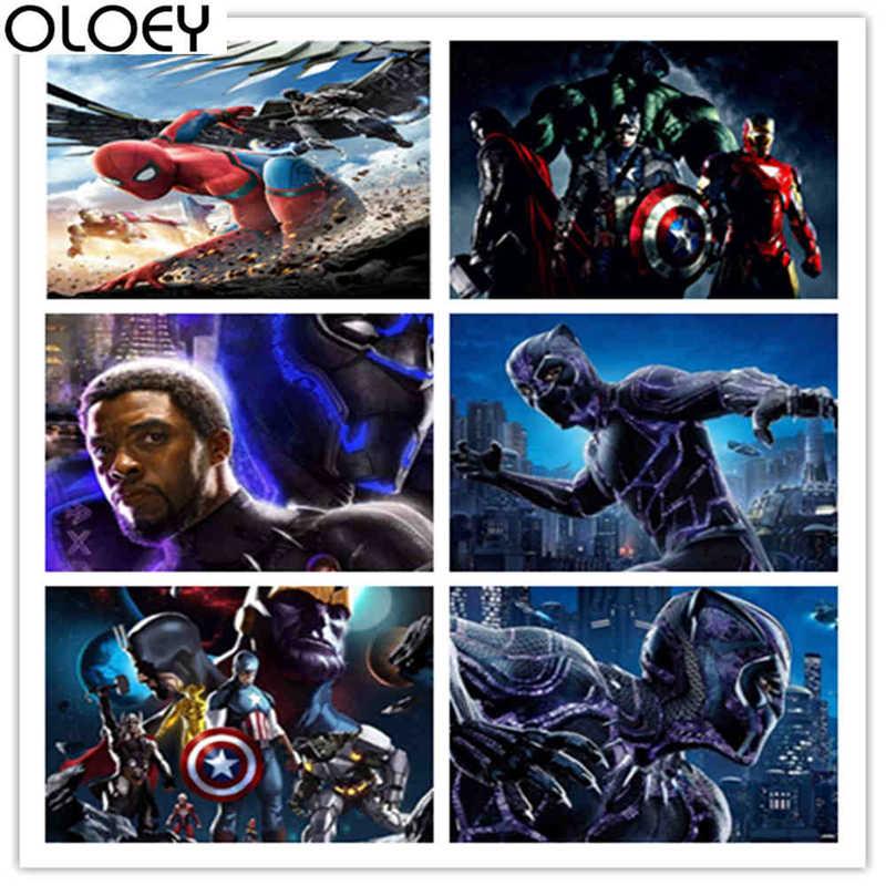 Полностью алмазное сверло для квадратных отверстий наборы для рисования Marvel Мстители 5D Вышивка мозаика аксессуары крестиком Подарочное настенное украшение