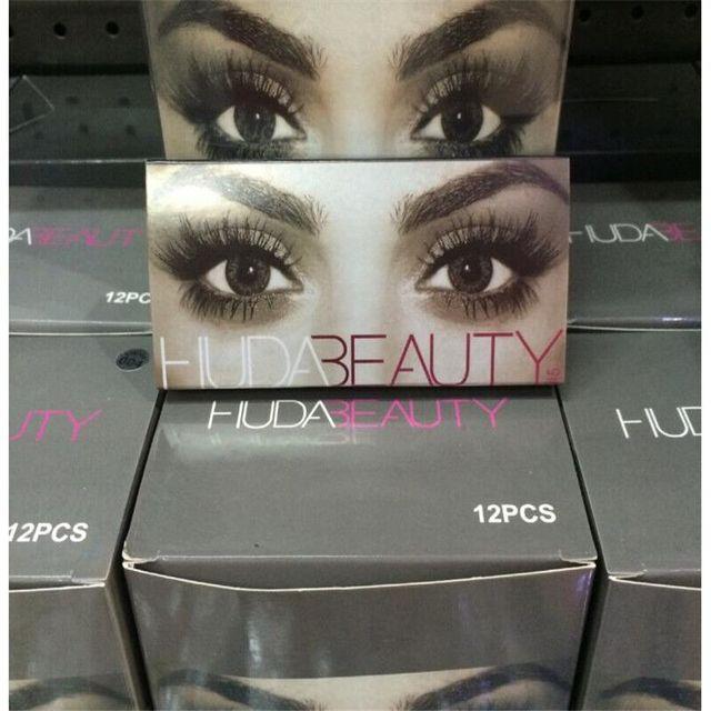 c3a905fd5be 12pair Huda Beauty False Eyelashes Messy Cross Thick Natural Fake Eye  Lashes Professional Makeup Bigeye Eye Lashes Handmade