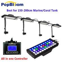 DSunY контроллер Wi-Fi затемнения аквариум светодиодное освещение 180 см/72 »мощный полный спектр рифов для морской коралловый Tank Восход закат