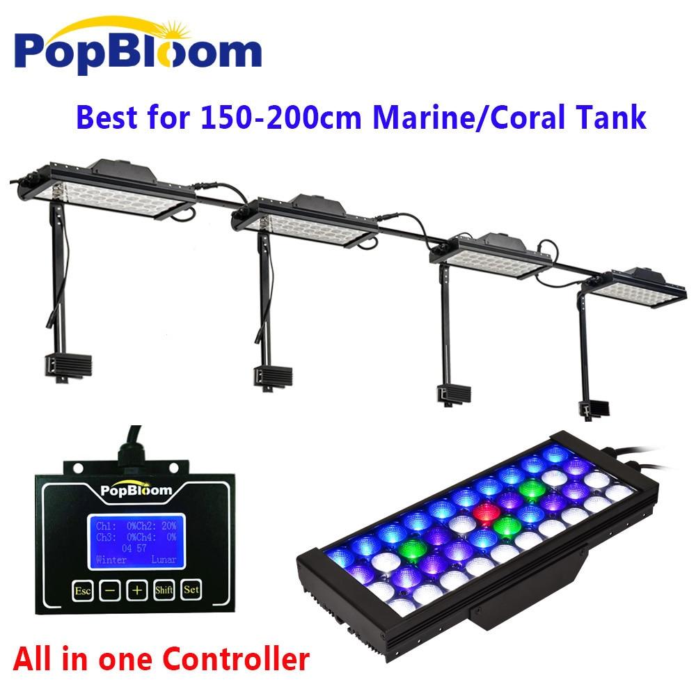 DSunY controlador wi-fi dimmable conduziu a iluminação do aquário 180 cm/72 ''poderosa gama completa de recifes de coral marinho tanque nascer do sol pôr do sol