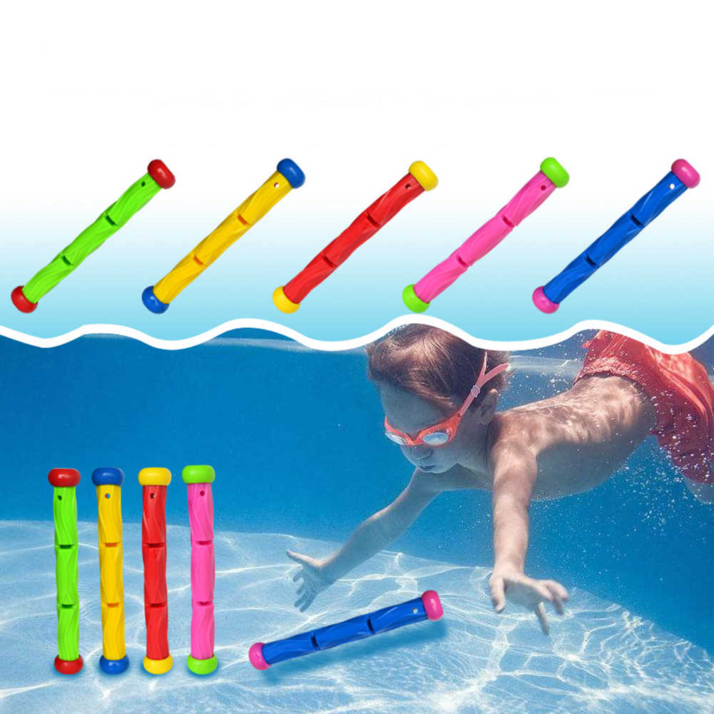Diving Ring Diving Game Water Toys Sea Plant Rod Summer Swimming Pool Accessories Underwater Game Diving Buoys Throwing Toys set
