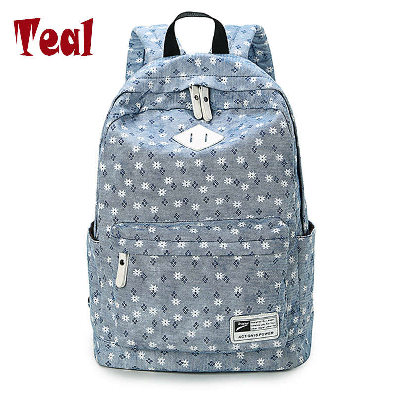 2018 Canvas Women Backpacks School Bags for Teenagers Girls Bolsas Femininas printing Laptop Travel Bags Middle School Students