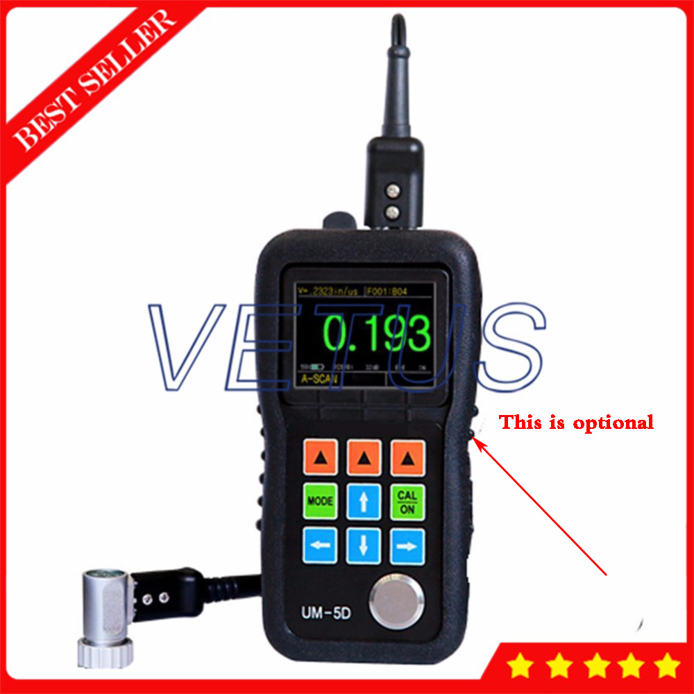 2.4 Color OLED Display Through Paint Coating A/b Scan Ultrasonic Thickness Gauge for glass metal thickness tester meter UM 5D
