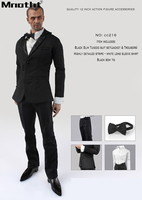 Quality 12inch Action Figure Accessories With Black Suit Set Bow Tie White Skirt for Male Soldier Toys m5
