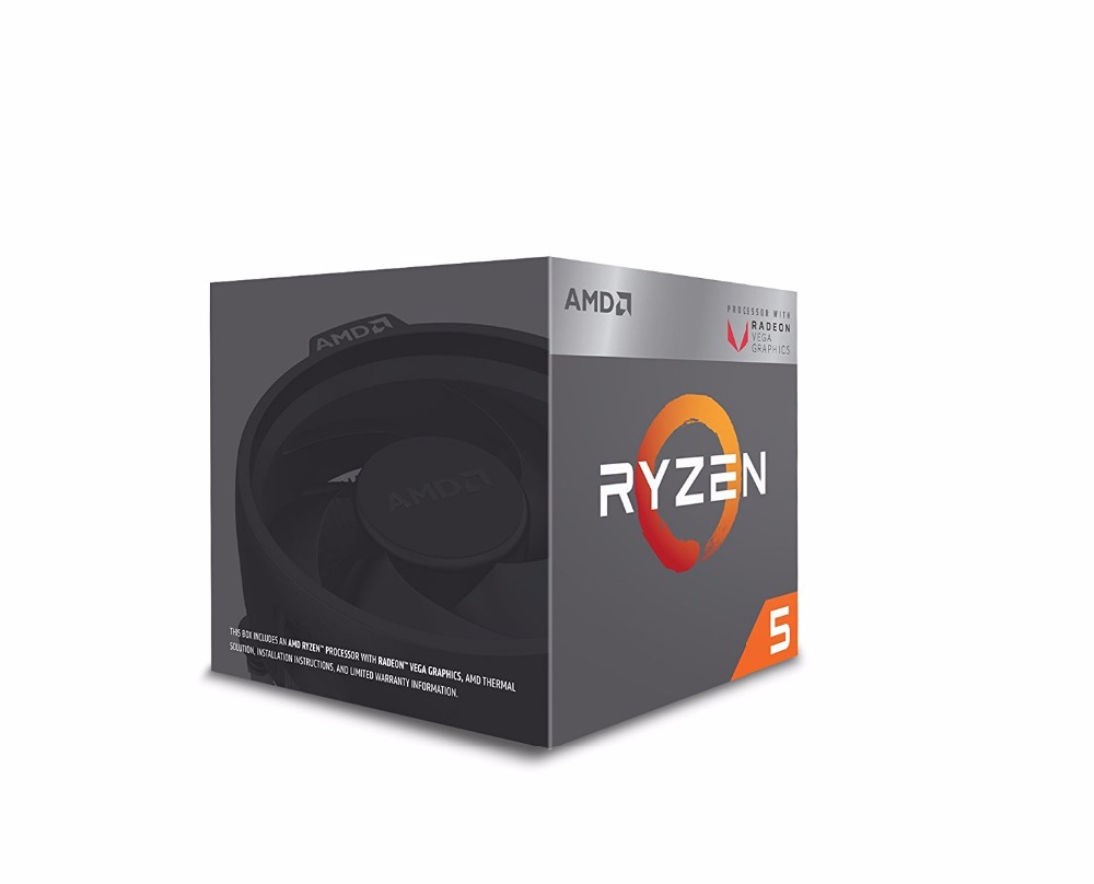 AMD Ryzen 5 2400G 3.6GHz AM4 14nm 64bit Quad 8-Thread 65W Wraith Stealth Cooler