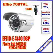 Security 1/3″ Sony Effio CCD 700TVL OSD menu 36 LED outdoor bullet camera IR 50m Waterproof CCTV camera C573H
