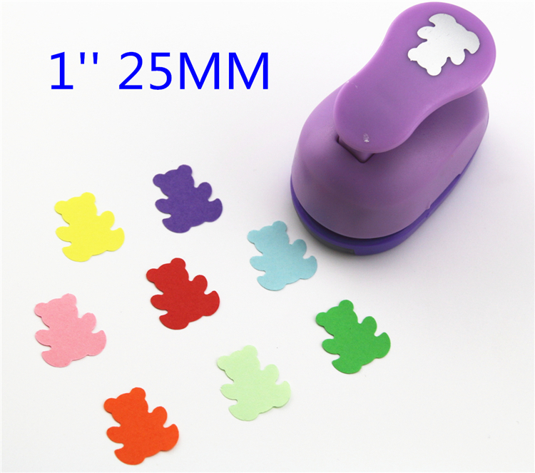 Free Ship 1'' Bear Paper Cutter Scrapbooking Punches Paper Punch Eva Foam Punch Child Diy Craft Punch ScrapbookS293717